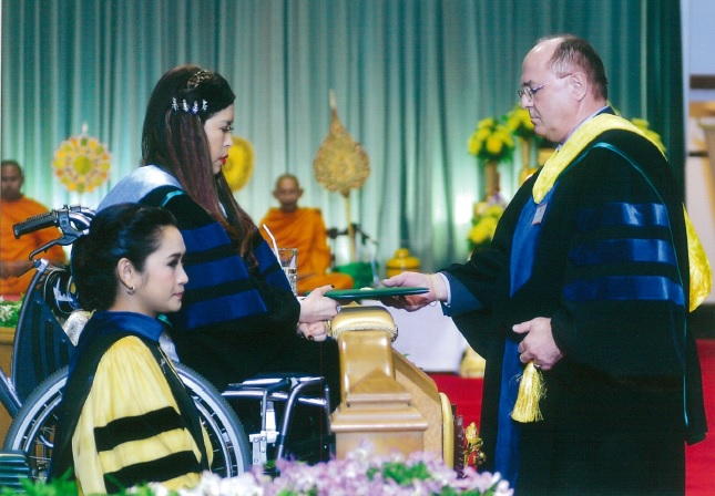 Erich Erber honoured by receiving PhD hc from Kasetsart University